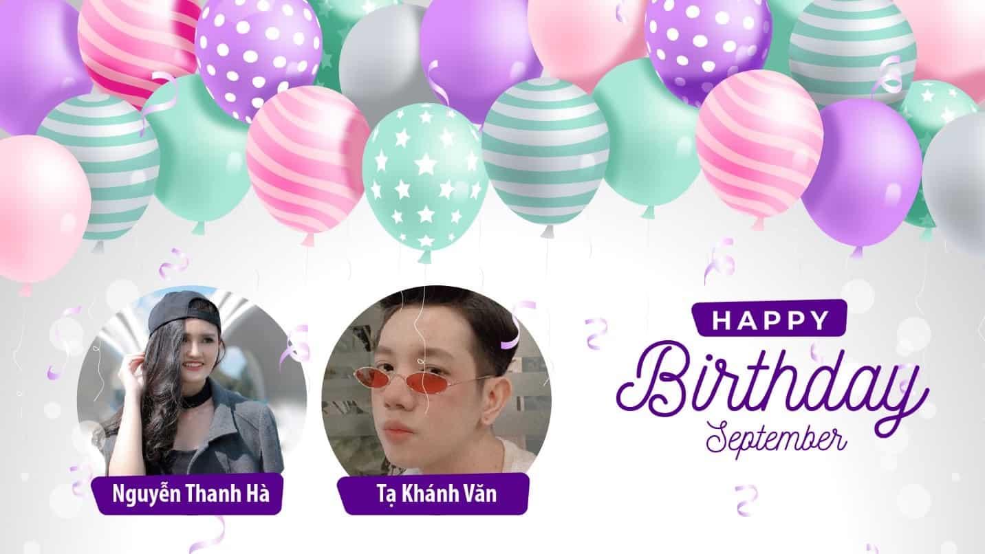 BMG Chúc Mừng Sinh Nhật Các Bạn Học Viên Khóa Digital Marketing Trong Tháng 9